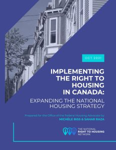 Report 2: Implementing the Right to Housing in Canada: Expanding the National Housing Strategy Act